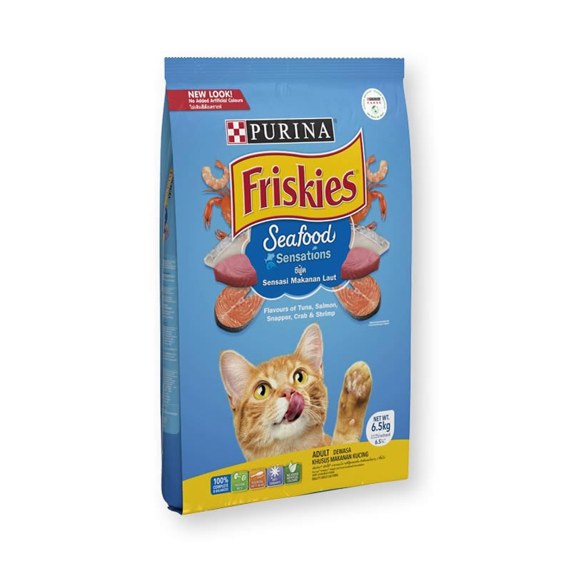 Friskies - Seafood Sensations (น้ำเงิน)