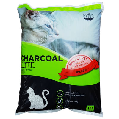 Charcoal Sand Charcoal Lite Cat Litter (สีเขียว)