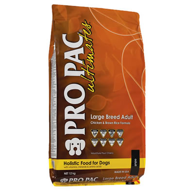 PRO PAC ultimates Large Breed Adult Chicken Meal & Brown Rice Formula