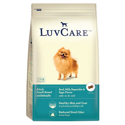 LuvCare - Adult Small Breed Beef, Milk, Vegetable and Eggs Flavors