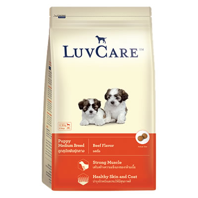 LuvCare - Puppy Medium Breed Beef Flavor