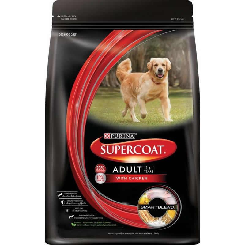 อาหารสุนัข SUPERCOAT Adult รสไก่ [น้ำหนัก 3 กิโลกรัม]