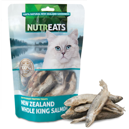 NUTREATS - NEW ZEALAND WHOLE KING SALMON FELINE