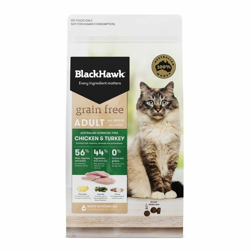 BlackHawk - Cat Adult Formula Grain Free Chicken & Turkey