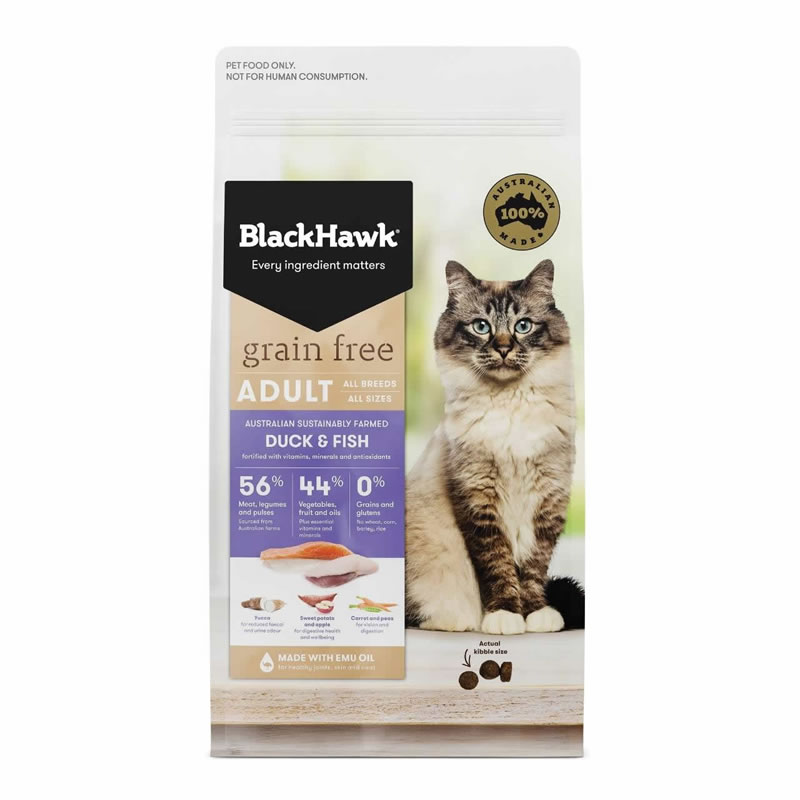 BlackHawk - Cat Adult Formula Grain Free Duck & Fish