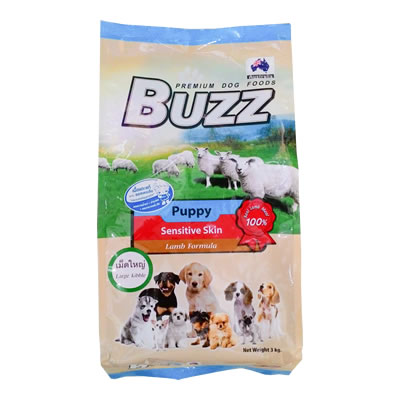 Buzz - Puppy Sensitive Skin - Lamb Formula - เม็ดใหญ่